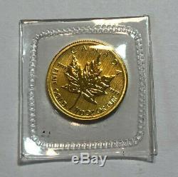 2011 Canada 1/10th oz $5 Gold Maple Leaf Coin. 9999 Fine Gold, BU Sealed