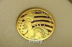 2011 Cook Islands $5 1/10 oz. 24 GOLD Collectors Statue Liberty. 240 Fine Coin
