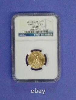 2012 Eagle, Fine Gold, MS 70 First Releases, 4 Coin Set