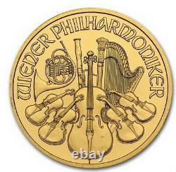 2012 Uncirculated 1/4 oz Austrian Fine. 9999 Gold Philharmonic Bullion Coin