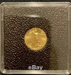 2013 1/10 Oz. US Gold Eagle bullion coin. 99.999 fine. BU. With case