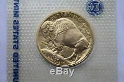 2013 $50 USA Gold Buffalo Coin 1 oz. 9999 Fine BU No Reserve