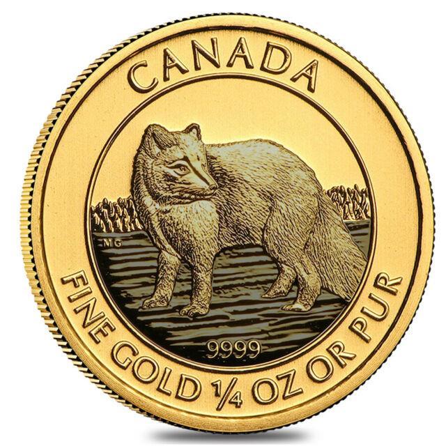 2014 1/4 Oz $10 Canadian Arctic Fox. 9999 Fine Bu (sealed)