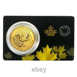 2014 1 oz Canadian Gold Howling Wolf Call of the Wild. 99999 Fine Gold In Assay