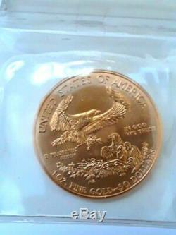 2014 1 oz fine gold American Eagle 50 dollar coin, BU