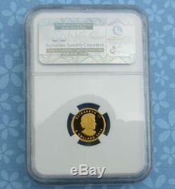 2014 NGC Proof 69 Ultra Cameo Canada 1/10th oz. 9999 Fine Gold Mammoth $5 Coin