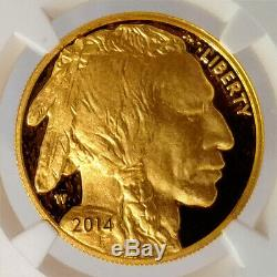 2014 W Buffalo NGC PF70 Ultra Cameo Early Releases 1oz. 9999 Fine Gold