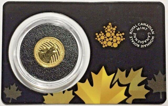 2015 1/10 Oz Rcm Canadian Gold Howling Wolf $20.99999 Fine Coin (in Assay)