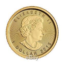 2015 1/20oz Canadian Gold Maple Leaf Coin. 9999 Fine BU