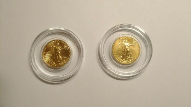 2015 American Gold Eagle 1/10th Ounce Fine Gold $5.00 Gold Coin Au $5