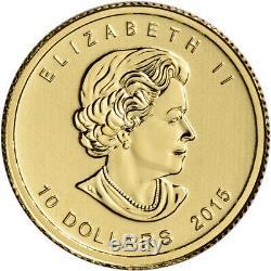 2015 Canada Gold Polar Bear and Cub $10 1/4 oz. 9999 Fine BU