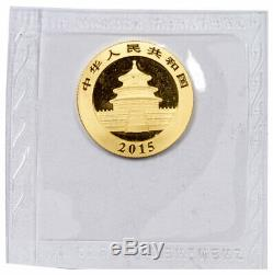 2015 China 1/4 Troy oz. 999 Fine Gold Panda 100 Yuan Mint Sealed