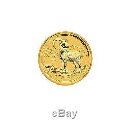 2015-P $5 1/20oz Gold Australian Year of the Goat. 9999 fine BU
