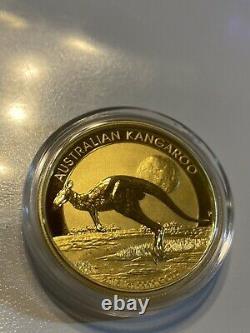 2015 Perth Mint 1 oz Gold Australian Kangaroo $100 Gold Coin. 9999 Fine BU