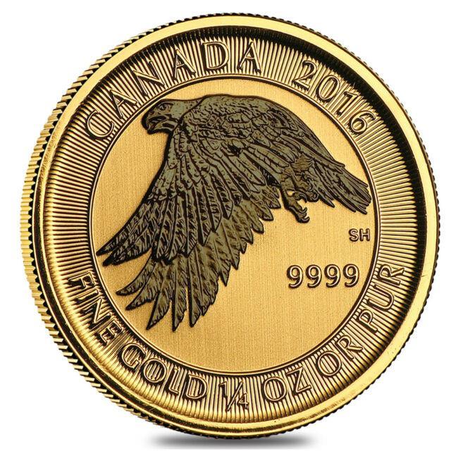 2016 1/4 Oz $10 Canadian Gold White Falcon. 9999 Fine Bu (sealed)