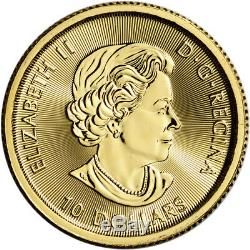 2016 Canada Gold White Snow Falcon $10 1/4 oz. 9999 Fine BU