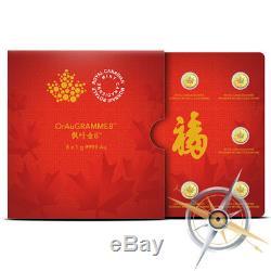 2016 Canada (RCM) Gold MapleGram8 8 x 1 gram. 9999 Fine Gold Maple Leaf Coins
