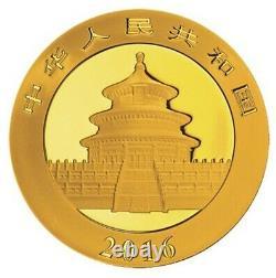 2016 China 3 Gram Gold Panda Brilliant Uncirculated. 999 Fine Gold Sealed