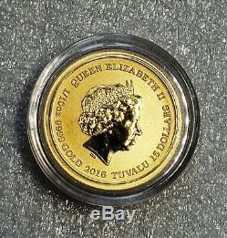 2016 GOLD Coin 75th Anniversary Pearl Harbor 99.99 Fine 1/10 Oz (SCARCE)