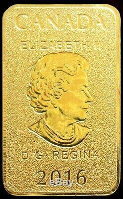 2016 Gold Royal Canadian Mint 1/10 Oz. 999 Fine Gold $25 Dollar Bar