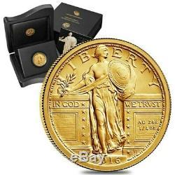 2016 W Centennial Standing Liberty Quarter 1/4oz. 9999 Fine Gold in OGP Bullion