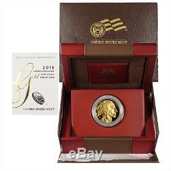 2016-W Proof $50 American Gold Buffalo. 9999 Fine 24KT 1 oz GEM Box OGP & COA