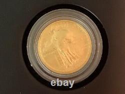2016 W Standing Liberty Quarter Centennial Gold Coin. 9999 Fine 1/4 Troy Oz b41