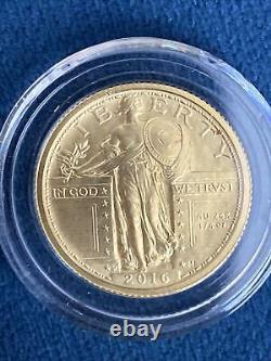 2016-W Standing Liberty Quarter Dollar Centennial 1/4 oz Fine Gold Coin