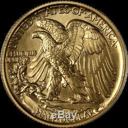 2016-W Walking Liberty Centennial Gold 1/2oz. 999 Fine Gem Coin OGP COA STOCK