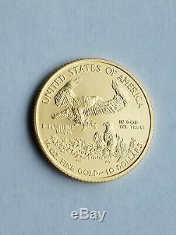 2017 1/4 oz American Eagle Fine Gold coin BU, $10.00