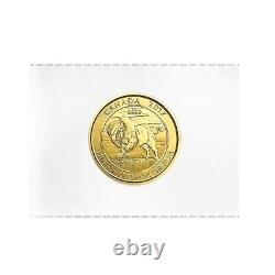 2017 1/4 oz Canadian Bison Gold Coin. 9999 Fine BU (Sealed)