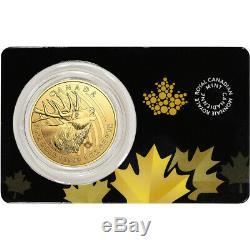 2017 Canada Gold Elk $200 1 oz BU in Sealed Assay. 99999 Fine