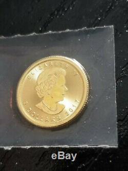 2017 Canada Gold Maple Leaf 1/10 oz $5.9999 Fine