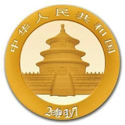 2017 China 1 Gram 999 Fine Gold Panda 10 Yuan Coin Brilliant Uncirculated Sealed