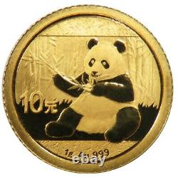 2017 China 1 Gram. 999 Fine Gold Panda BU Sealed