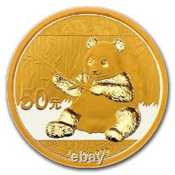 2017 China 3 Gram Gold Panda Brilliant Uncirculated. 999 Fine Gold Sealed