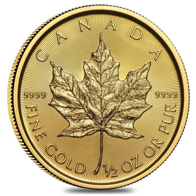 2018 1/2 Oz Canadian Gold Maple Leaf $20 Coin. 9999 Fine Bu (sealed)