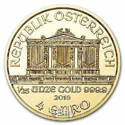 2018 1/25 oz 999.9 Fine Gold Bullion Austrian Philharmonic Coin