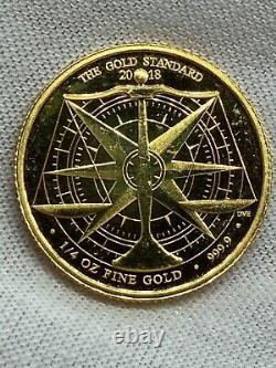 2018 1/4 oz British Gold Coin. 9999 Fine 24kt