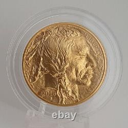 2018 1 Oz. 9999 Fine Gold American Buffalo $50 In Capsule