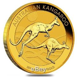 2018 1 oz Australian Gold Kangaroo Perth Mint Coin. 9999 Fine BU In Cap