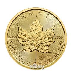 2018 1 oz Canadian Gold Maple Leaf $50 Coin. 9999 Fine