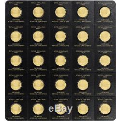 2018 25x1 g. Gold Maplegram25 RCM Royal Canadian Mint. 9999 Fine in Assay