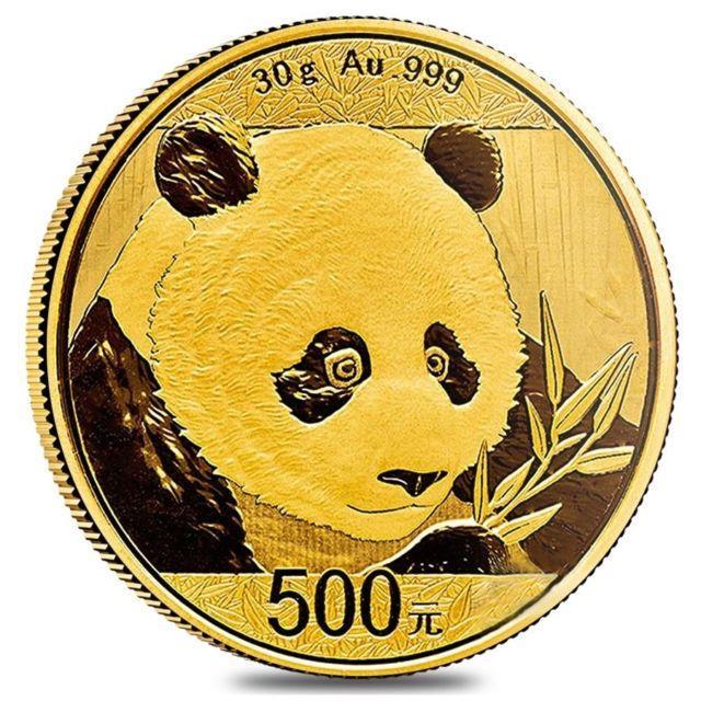 2018 30 Gram Chinese Gold Panda 500 Yuan. 999 Fine Bu (sealed)