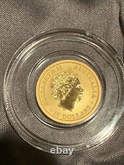 2018 Australia $15.9999 Fine Gold 1/10 Oz Wedge Tailed Eagle Bu In Capsule