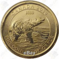 2018 Canada 1/10 oz. 9999 fine gold Polar Bear (Sealed) - SKU #23801