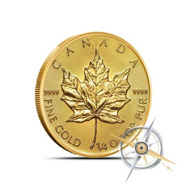 2018 Canada 1/4 Oz $10.9999 Fine Gold Maple Leaf Coin Gem Bu In Mint Plastic