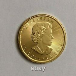 2018 Canadian Maple Leaf 1 Oz. 9999 Fine Gold $50 Dollar Coin