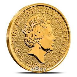 2018 Great Britain (UK) 1 Oz £100 Gold Britannia Coin. 9999 Fine Gem BU