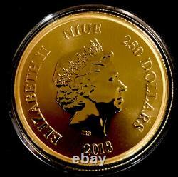 2018 Niue Disney Scrooge Mcduck 1oz Gold $250 Coin. 999 fine New Zealand Mint